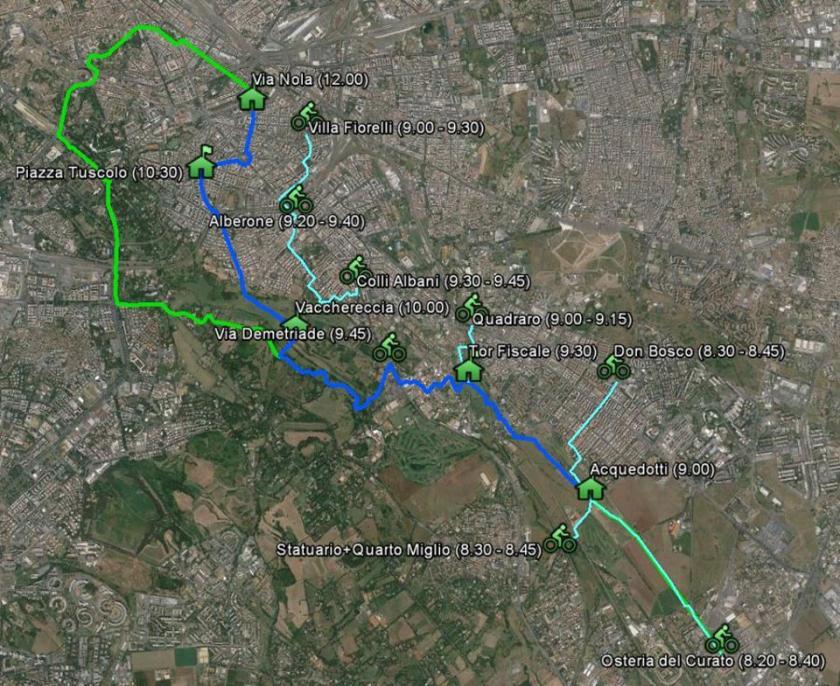 Mappa e orari del percorso